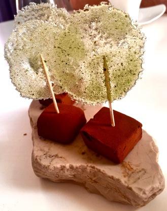 Fudge caramel chocolat, sucette sucre verveine