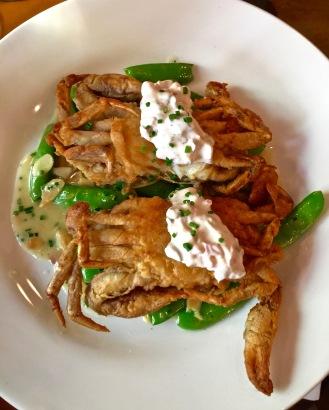 Crabe à Carapace Molle frit