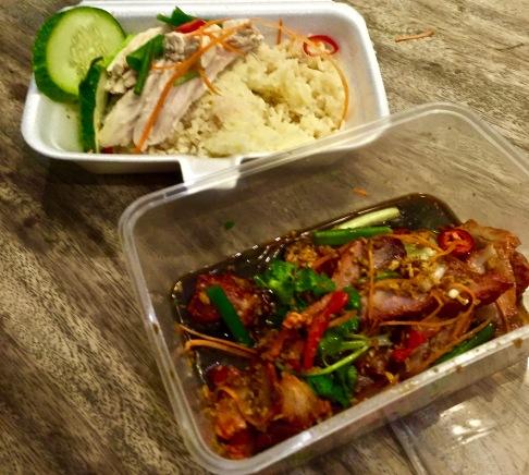 Chicken rice et porc laqué