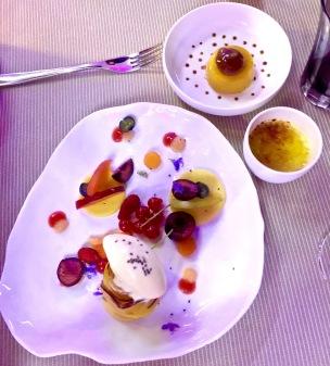 Fruits du verger, crème glacée aux girofles et à la graine de Chia