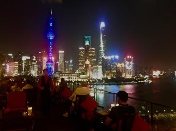 Pudong depuis la terrasse du Sir Elly's Bar