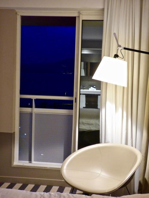Balcon de la suite face baie