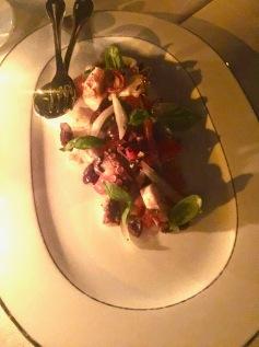 Salade de poulpe à la Génoise, tomates et olives