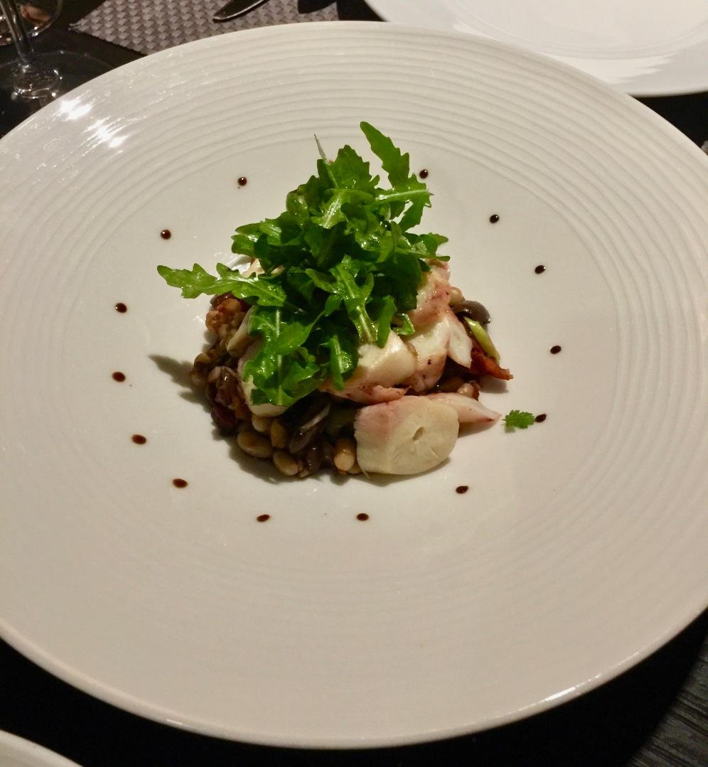 Salade tiède de poulpe aux haricots dits « cocos»