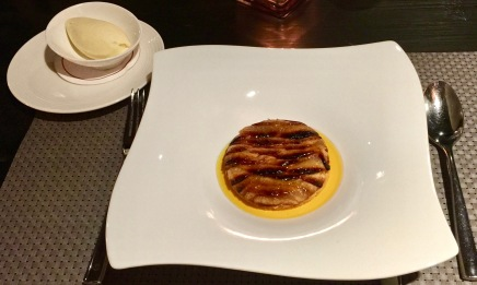 Sablé de pomme au four, gelée de cidre Normand et crème glacée Calvados