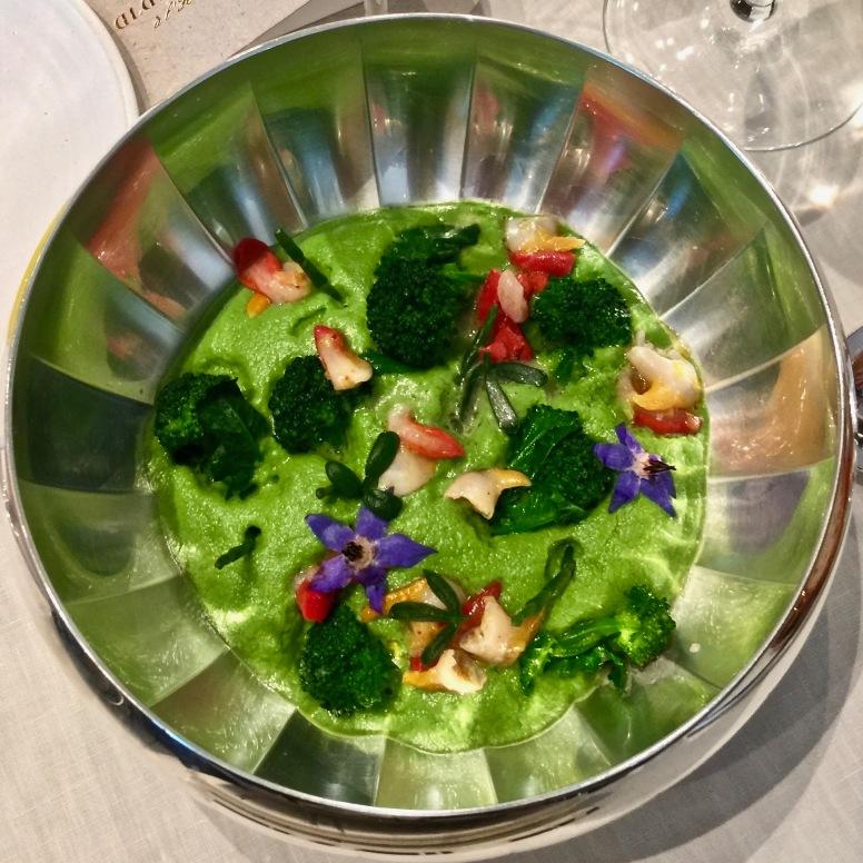 Coquillages et brocolettis rafraîchis, condiment iodé ©lepetitlugourmand