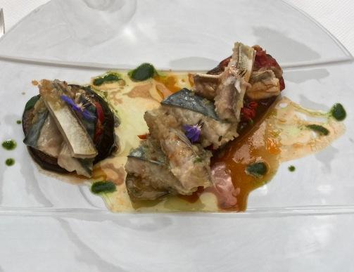 Tartine d'aubergine, maquereau à l'escabèche ©lepetitlugourmand