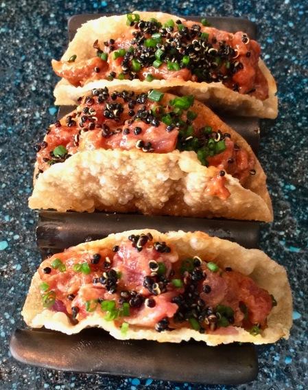 Tartare de Wagyu Boeuf Wagyu, aji panca, poutargue, quinoa noir ©lepetitlugourmand
