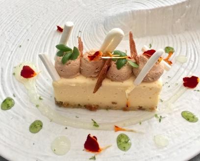 No cheese cake au yuzu, praliné ©lepetitlugourmand
