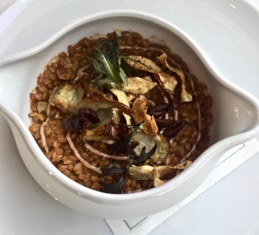 Cookpot de petit épeautre de Haute-Provence, artichauts et olives taggiasche ©lepetitlugourmand