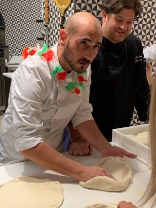 Dario le Pizzaiolo et le chef Andréa Gianetti ©lepetitlugourmand