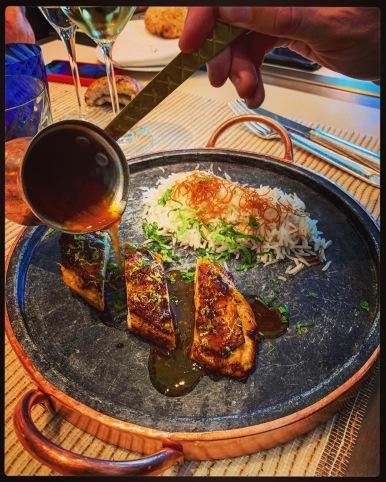 Suprême de volaille chich taouk riz parfumé aux vermicelles croustillants ©lepetitlugourmand