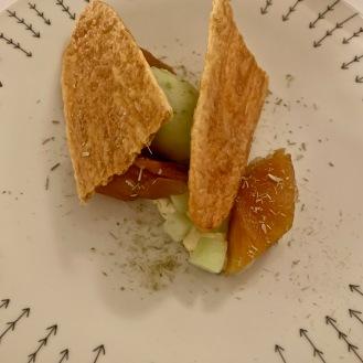 Arlette à la citronelle du jardin, pressée de pommes caramélisées ©lepetitlugourmand