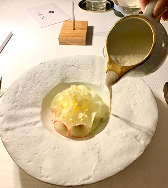 Pomme, chorizo, haddock et Tête de Moine ©lepetitlugourmand