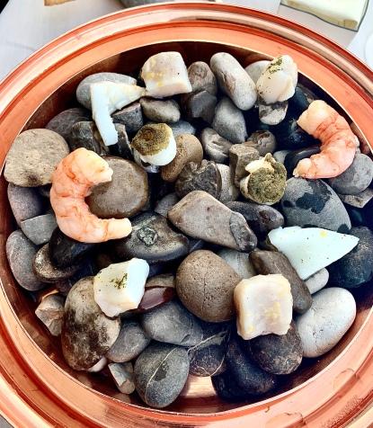 Gamberoni de San- Remo et olive, piment d'Espelette - Mulet et citron - Sèche au naturel - Galinette et câpres - Chapon et herbes fines ©lepetitlugourmand