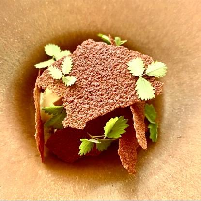 Chocolat du Pérou 70%, feuilles de pimprenelle ©hpietrini