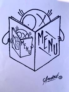 Menu par l'artiste-grapheur André© ©lepetitlugourmand
