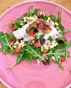 La pêche du jour, salade de Fregola, sauce vierge ©lepetitlugourmand